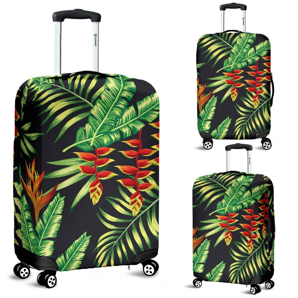 Hawaiian Flower Tropical Palm Leaves Luggage Protective Cover