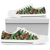 Hawaiian Flower Tropical Palm Leaves Men Low Top Canvas Shoes