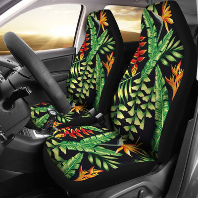 Hawaiian Flower Tropical Palm Leaves Universal Fit Car Seat Covers