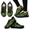 Hawaiian Flower Tropical Palm Leaves Women Sneakers