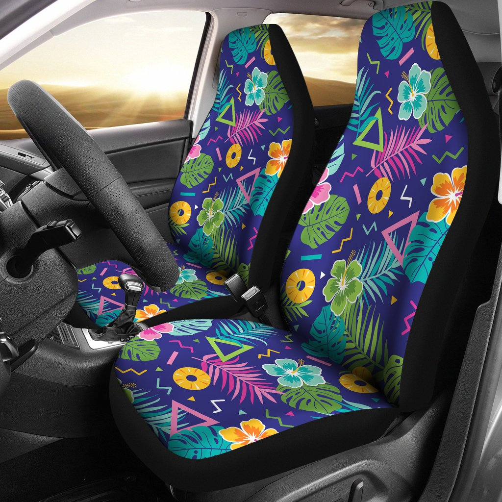 Hawaiian Themed Pattern Print Design H014 Universal Fit Car Seat Covers-JorJune