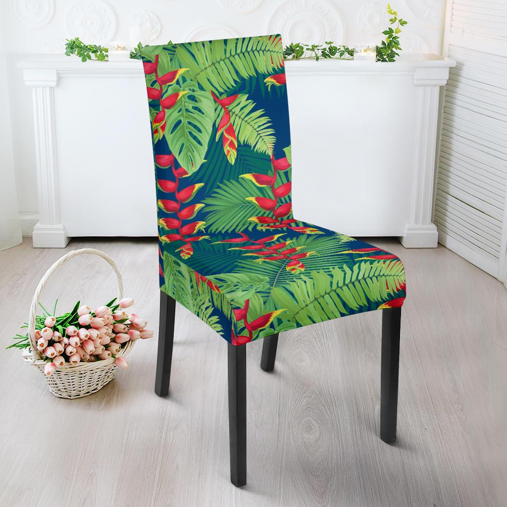 Heliconia Pattern Print Design HL08 Dining Chair Slipcover-JORJUNE.COM