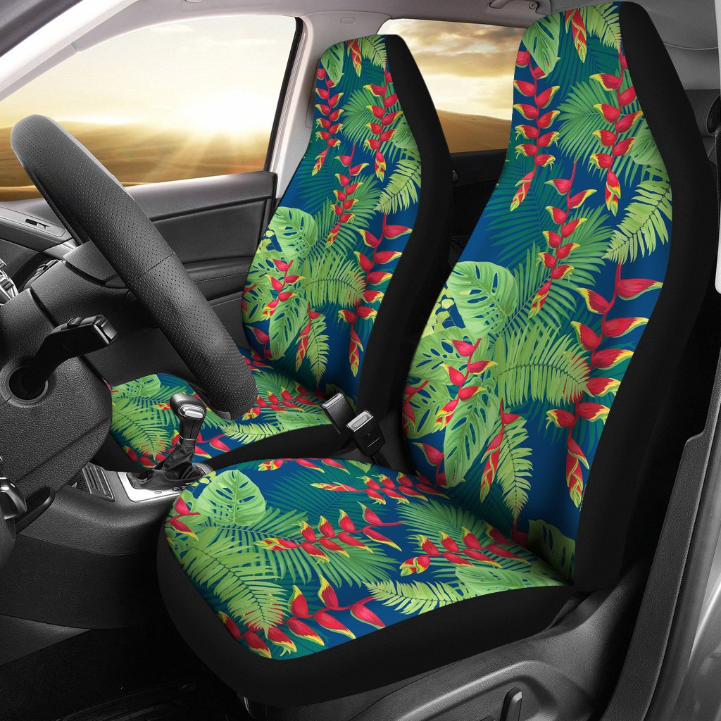 Heliconia Pattern Print Design HL08 Universal Fit Car Seat Covers-JorJune