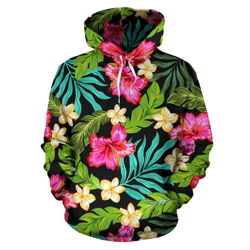 Hibiscus Colorful Hawaiian Flower All Over Print Hoodie