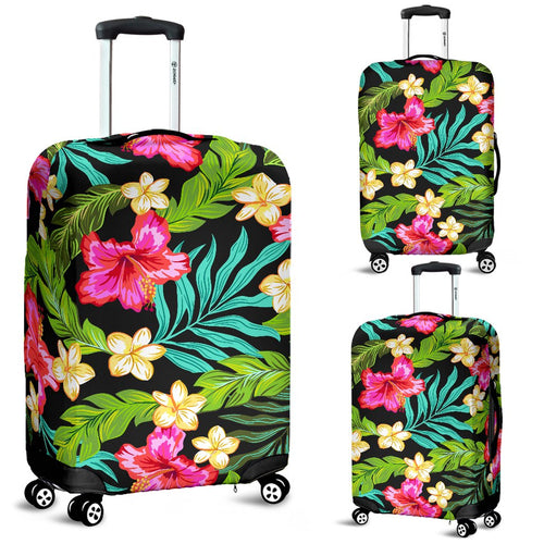 Hibiscus Colorful Hawaiian Flower Luggage Cover Protector