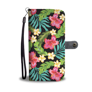 Hibiscus Colorful Hawaiian Flower Wallet Phone Case
