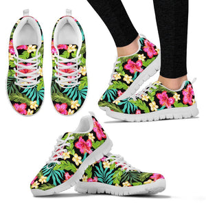 Hibiscus Colorful Hawaiian Flower Women Sneakers