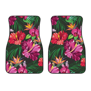Floral Hibiscus Hawaiian tropical flower Car Floor Mats