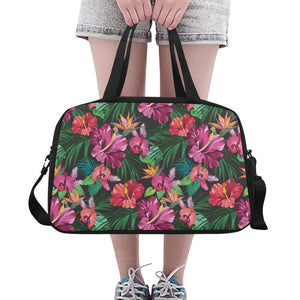 Hawaiian Flower Hibiscus tropical Crossbody Travel Bag