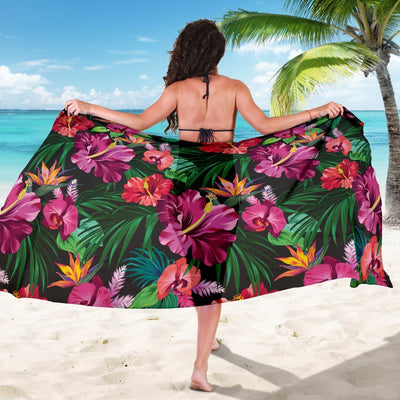 Hawaiian Flower Hibiscus tropical Beach Sarong Pareo Wrap