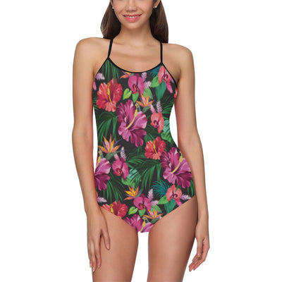 Hawaiian Flower Hibiscus tropical Women's Slip One Piece Swimsuit (Model S05)