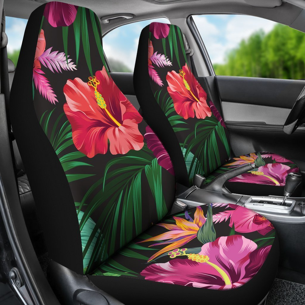Outstanding Hibiscus Hawaiian Design Print Pattern Universal Fit Car Seat Covers Caraccident5 Cool Chair Designs And Ideas Caraccident5Info