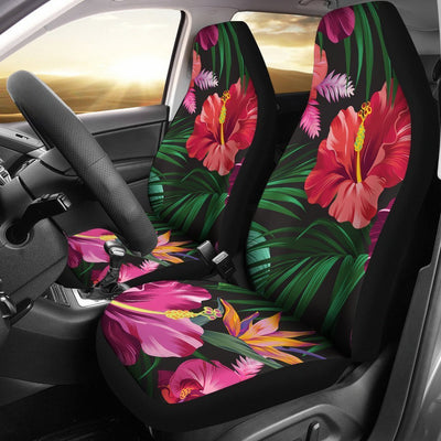 Floral Hibiscus Hawaiian tropical flower Universal Fit Car Seat Covers