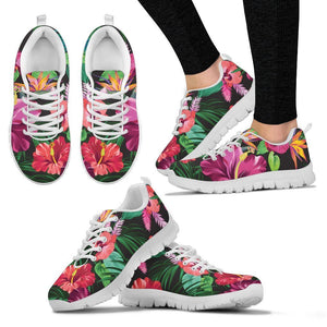 Floral Hibiscus Hawaiian tropical flower Women Sneakers