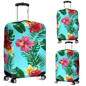 Hibiscus Hawaiian Flower Luggage Cover Protector
