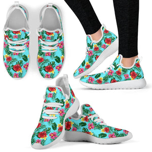 Hibiscus Hawaiian Flower Mesh Knit Sneakers Shoes