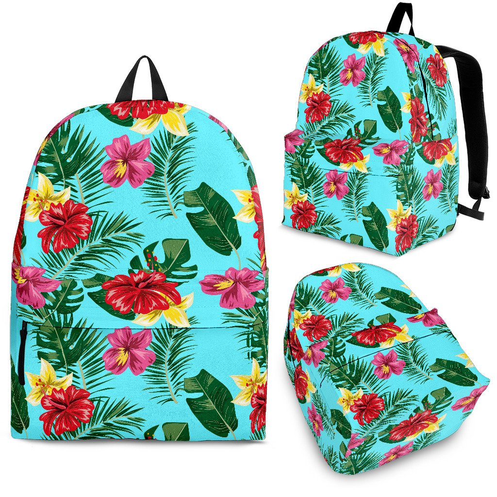 Hibiscus Hawaiian Flower Premium Backpack Jorjune