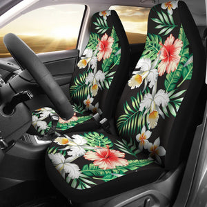 Hibiscus Hawaiian tropical flower Universal Fit Car Seat Covers