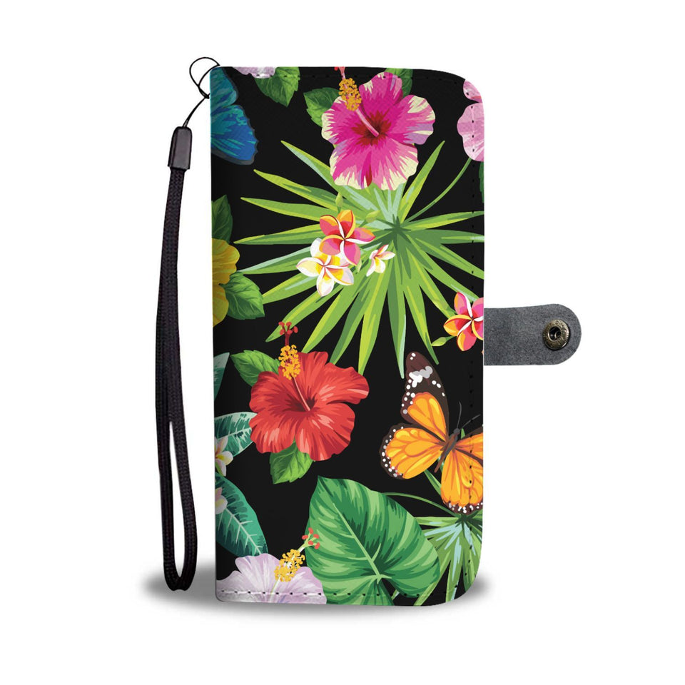 hibiscus Plumeria Hawaiian flowers Wallet Phone Case