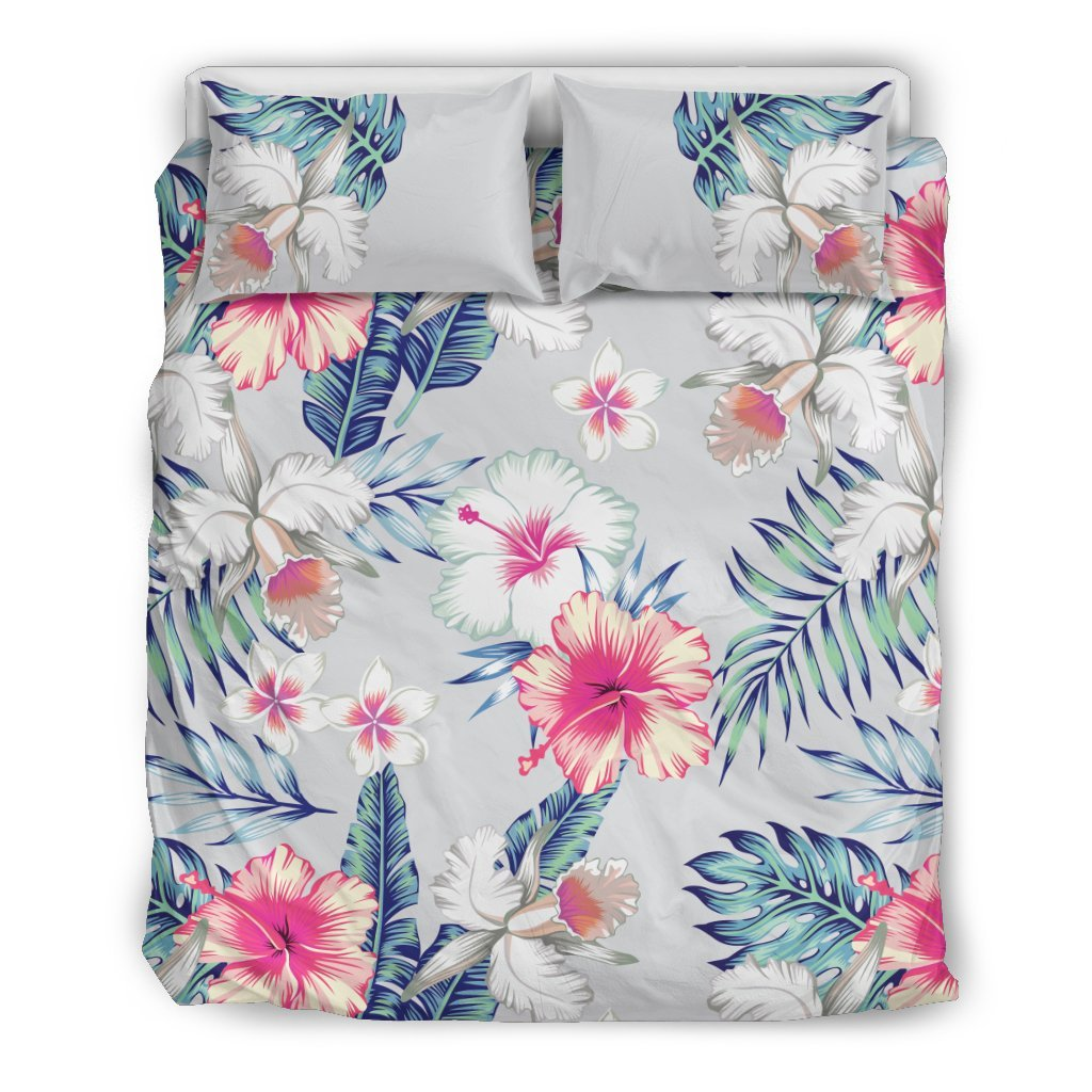 Hibiscus Print Duvet Cover Bedding Set