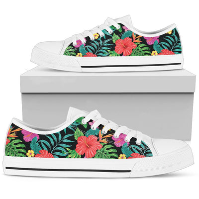 Hibiscus Red Hawaiian Flower Men Low Top Shoes