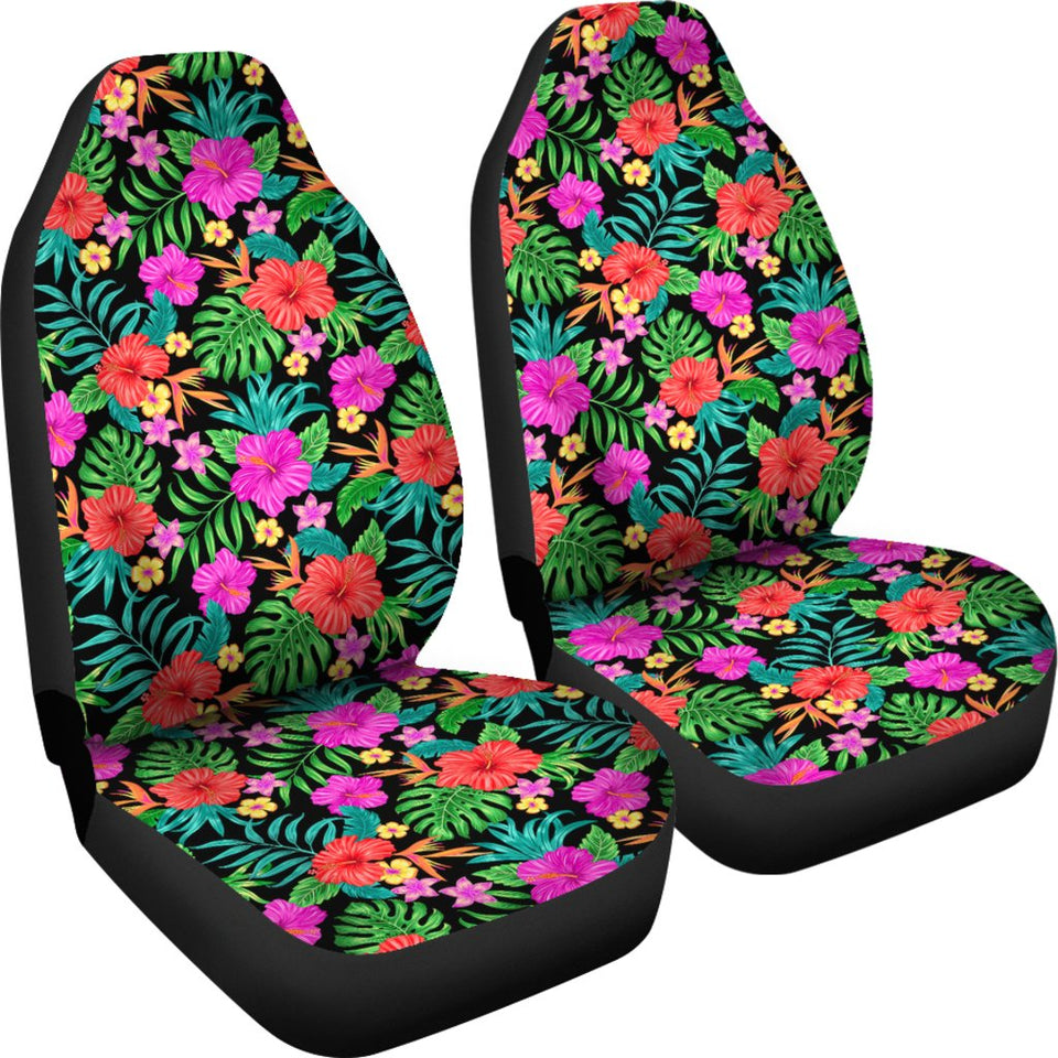 Hawaiian Car Seat Covers >> Hibiscus Red Hawaiian Flower Universal Fit Car Seat Covers