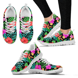 Hibiscus Red Hawaiian Flower Women Sneakers