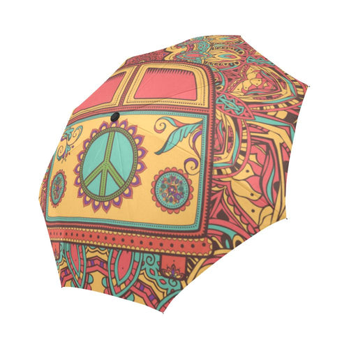 Hippie Van Mandala Automatic Foldable Umbrella