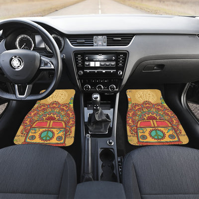 Hippie Van Mandala Car Floor Mats