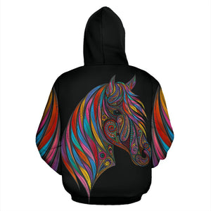 Horse Colorful All Over Print Hoodie
