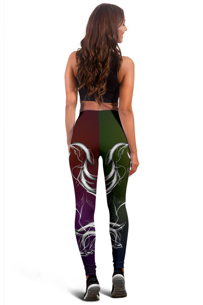 Horse Colorful hand Draw Women Leggings