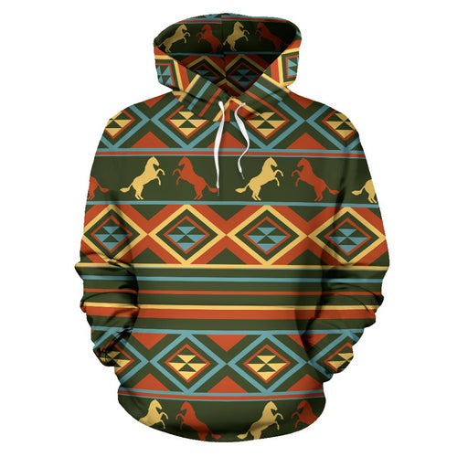 Horse Western Pattern All Over Print Hoodie