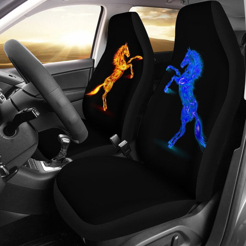 Horses fire water Universal Fit Car Seat Covers