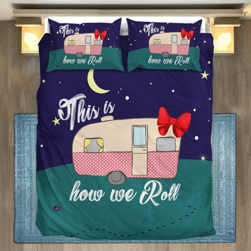 How we roll Caravan Camper Duvet Cover Bedding Set