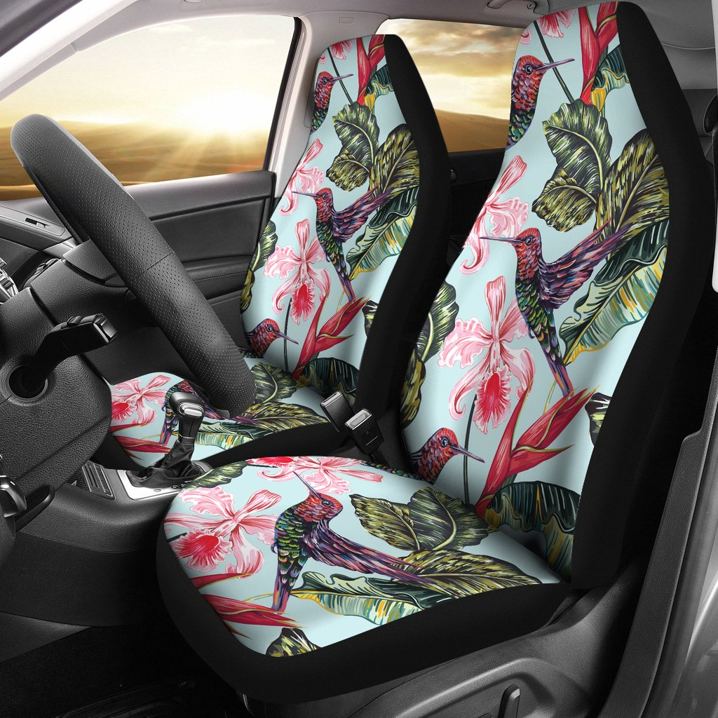 Hummingbird Cute Themed Print Universal Fit Car Seat Covers