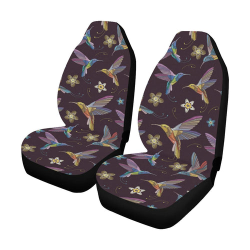Hummingbird Pattern Print Design 04 Car Seat Covers (Set of 2)-JORJUNE.COM