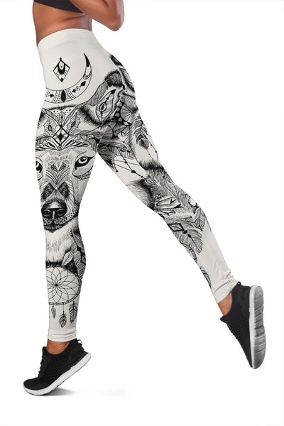 Indian Boho Wolf Women Leggings