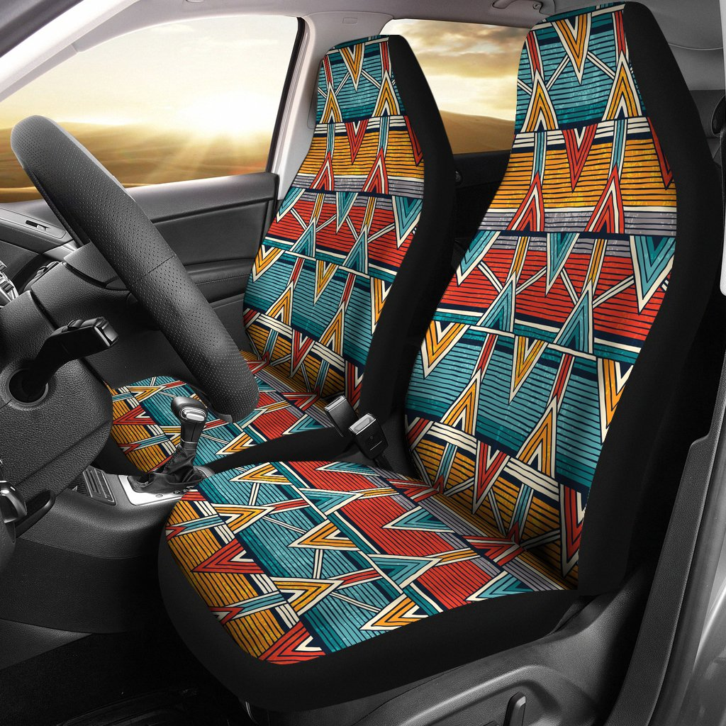 Kente Print African Design Themed Universal Fit Car Seat Covers