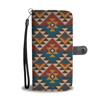 Knit Aztec Tribal Wallet Phone case