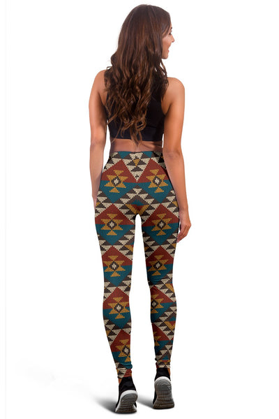 Knit Aztec Tribal Women Leggings