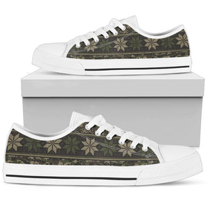 Knit Camouflage Camo Men High Top Canvas Shoes