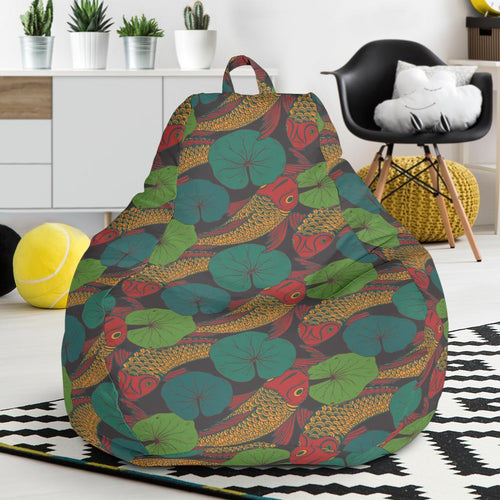KOI Fish Pattern Print Design 01 Bean Bag Chair-JORJUNE.COM