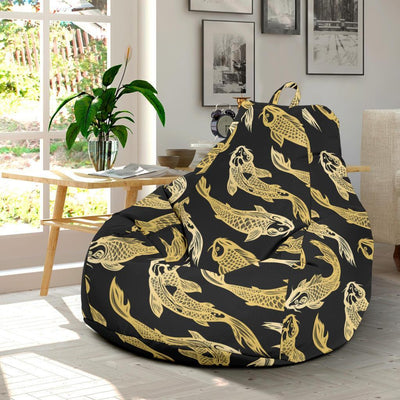 KOI Fish Pattern Print Design 03 Bean Bag Chair-JORJUNE.COM