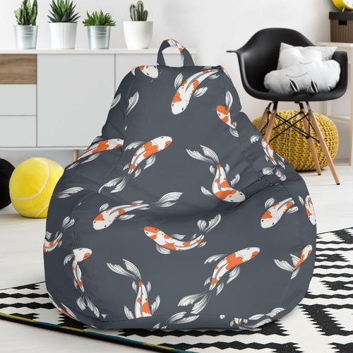 KOI Fish Pattern Print Design 04 Bean Bag Chair-JORJUNE.COM