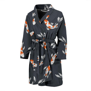 KOI Fish Pattern Print Design 04 Men Bathrobe-JORJUNE.COM