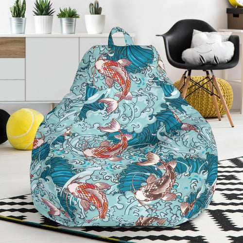 KOI Fish Pattern Print Design 05 Bean Bag Chair-JORJUNE.COM