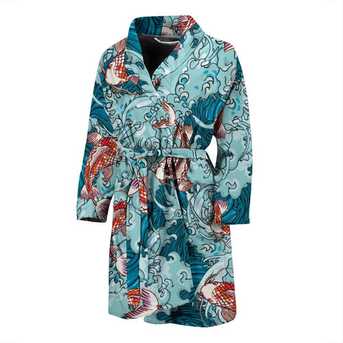 KOI Fish Pattern Print Design 05 Men Bathrobe-JORJUNE.COM