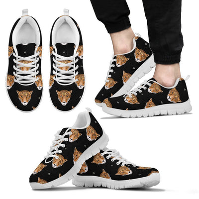 Leopard Head Pattern Men Sneakers