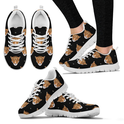 Leopard Head Pattern Women Sneakers