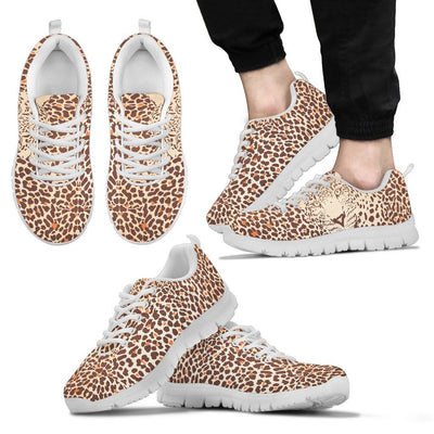 Leopard Head Print Men Sneakers